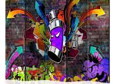 Paraván - Graffiti: Colourful attack II [Room Dividers]